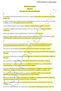 Paniere di Diritto del lavoro - Multiple - Giurisprudenza - eCampus