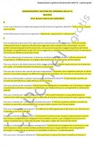Paniere di Organizzazione e gestione del personale nella P.A. - Multiple - eCampus