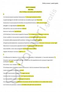 Paniere di Diritto romano - Multiple - eCampus