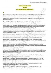 Paniere di Diritto amministrativo II - Multiple - Giurisprudenza - eCampus