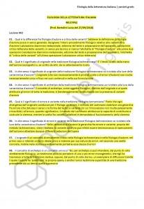 Paniere di Filologia della letteratura italiana - Multiple - Filologia moderna - eCampus