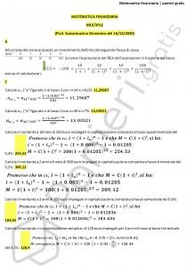 Paniere di Matematica finanziaria con svolgimento - Multiple - eCampus