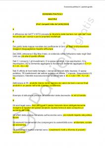 Paniere di Economia politica II - MULTIPLE - Master a046 - eCampus