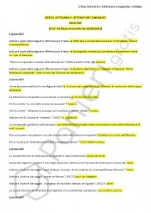 Paniere di Critica letteraria e letterature comparate - Multiple - Lingue e letterature - eCampus