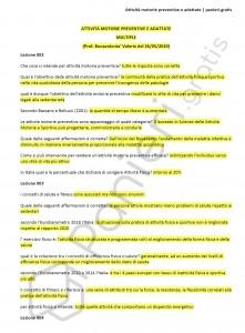 Paniere di Attività motorie preventive e adattate - Multiple - eCampus