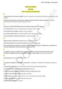 Paniere di diritto di famiglia - Multiple - Giurisprudenza - eCampus