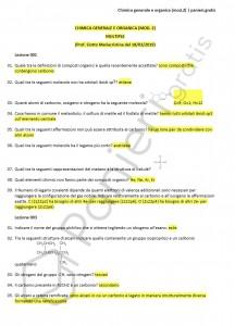 Paniere di Chimica generale e organica (mod. 2) - Multiple - Scienze biologiche - eCampus