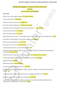 Paniere di letteratura inglese 5/specialistica - Multiple - eCampus