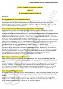Paniere di Critica letteraria e letterature comparate - Aperte - eCampus