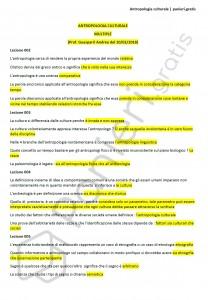 Paniere di Antropologia culturale - Multiple - Filologia moderna - eCampus