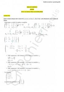 Paniere di Analisi numerica - Aperte - Ingegneria informatica - eCampus
