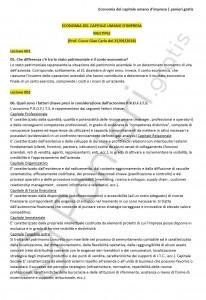 Paniere di economia del capitale umano d'impresa - Aperte - eCampus