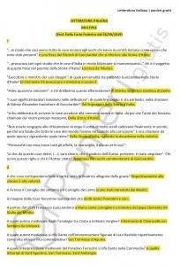 Paniere di Letteratura italiana - Multiple - Lett., lingua e cultura italiana - eCampus