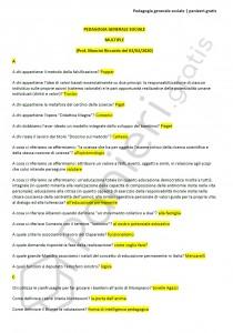 Paniere di Pedagogia generale sociale - Multiple - 24 CFU - eCampus