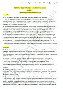 Paniere di Economia degli intermediari e dei mercati finanziari - Aperte - eCampus