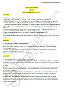 Paniere di Linguistica generale - Aperte - Lingue e lett. straniere - eCampus