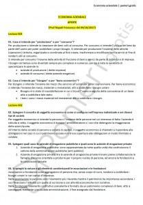 Paniere di Economia aziendale - Aperte - Economia - eCampus