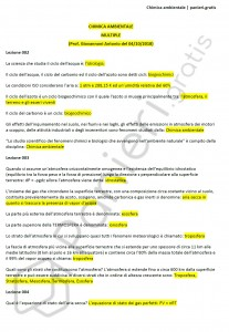 Paniere di Chimica ambientale - Multiple - Ingegneria civile - eCampus
