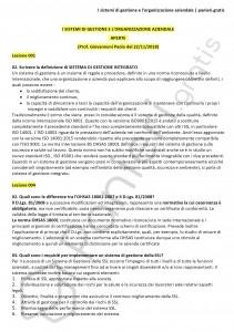 Paniere di I sistemi di gestione e l'organizzazione aziendale - Aperte - eCampus