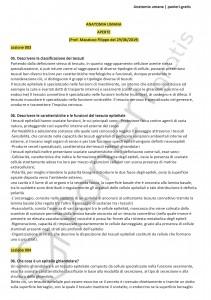 Paniere di Anatomia umana - Aperte - Scienze motorie - eCampus