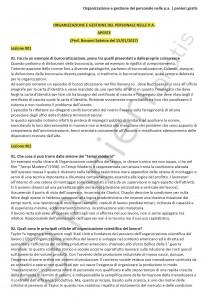Paniere di Organizzazione e gestione del personale nella P.A. - Aperte - eCampus