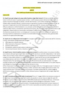Paniere di Diritto dell'unione europea - Aperte - Scienze politiche - eCampus