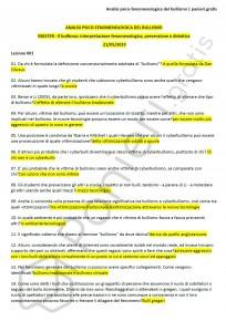 """Paniere di Analisi psico-fenomenologica del bullismo - Master """"Il bullismo"""" - eCampus"""