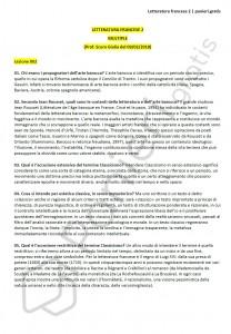 Paniere di Letteratura francese 2 - Aperte - eCampus