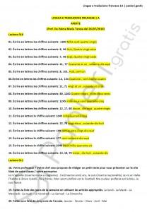 Paniere di Lingua e traduzione francese 1A - Aperte - eCampus