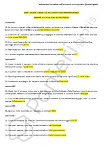 """Paniere di Valutazione formativa nell'intervento metacognitivo - Master """"A scuola oggi"""" - eCampus"""