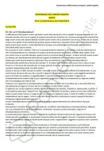 Paniere di Governance dell'unione europea - Aperte - Scienze politiche - eCampus