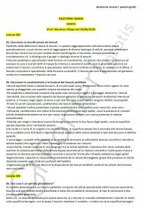 Paniere di Anatomia umana - Aperte - Scienze biologiche - eCampus