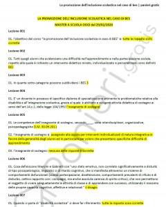 Paniere di La promozione dell'inclusione scolastica nel caso di bes - Master A scuola oggi - eCampus