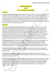 Paniere di Energetica ambientale - Aperte - Ingegneria industriale - eCampus
