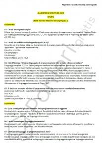 Paniere di Algoritmi e strutture dati - Aperte - Ingegneria informatica - eCampus