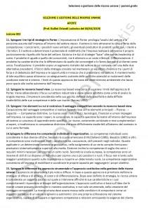 Paniere di Selezione e gestione delle risorse umane - Aperte - Scienze dell'economia - eCampus