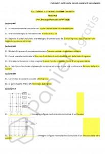 Paniere di Calcolatori elettronici e sistemi operativi - Multiple - Ingegneria informatica - eCampus