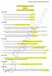 Paniere di Meccanica razionale e statistica - Multiple - Ingegneria civile ed ambientale - eCampus