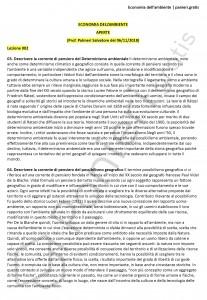 Paniere di Economia dell'ambiente - Aperte - Scienze dell'economia - eCampus
