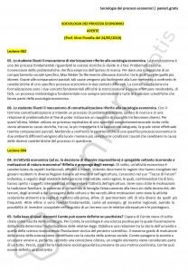 Paniere di Sociologia dei processi economici - Aperte - Scienze della comunicazione - eCampus