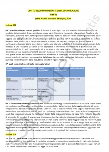 Paniere di Diritto dell'informazione e della comunicazione - Aperte - eCampus