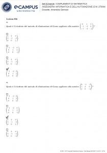 Complementi di matematica - Multiple