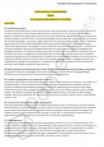 Paniere di Psicologia delle organizzazioni - Aperte - Scienze e tec. psicologiche - eCampus