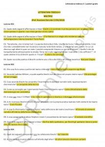Paniere di Letteratura tedesca 4 - Multiple - Lingue e lett. moderne - eCampus