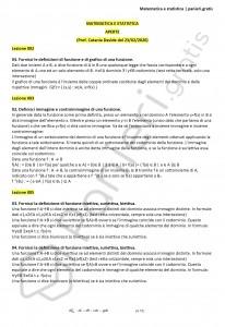 Paniere di Matematica e statistica - Aperte - Scienze biologiche - eCampus