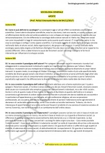 Paniere di Sociologia generale - Aperte - Scienze pedagogiche - eCampus