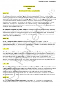 Paniere di Sociologia generale - Aperte - Scienze politiche e sociali - eCampus
