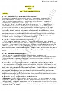 Paniere di Farmacologia - Aperte - Scienze biologiche - eCampus