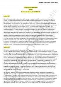 Paniere di Storia del giornalismo - Aperte - Scienze politiche - eCampus