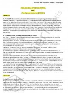 Paniere di Psicologia della dipendenza affettiva - Aperte - Servizi giuridici - eCampus